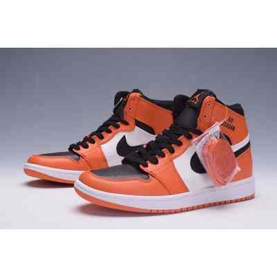 vente chaude en ligne d61a0 28c8a nike air jordan 1 blanche et orange pour homme,chaussure ...