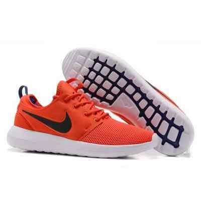 la meilleure attitude b4cd3 dcd64 nike roshe two femme orange et noir,chaussures nike roshe ...